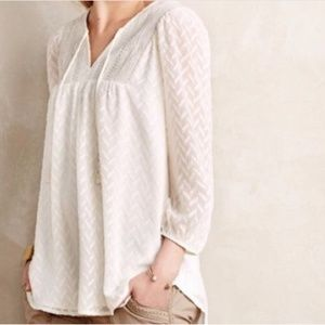 Anthropologie One September Attylie Peasant Blouse